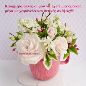 Καλημέρα φίλες-οι μου να έχετε μια όμορφη μέρα με χαμόγελα και θετικές σκέψεις!!!!
