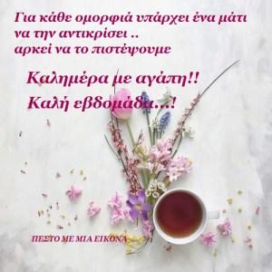 Read more about the article Καλημέρα με αγάπη!! Καλή και όμορφη εβδομάδα σε όλους!