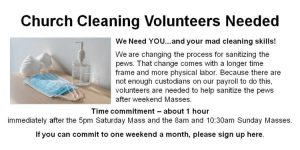 Church Cleaning Volunteers Needed