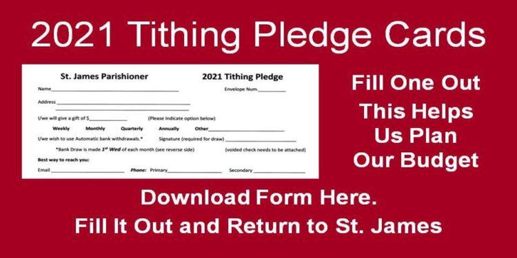 2021 Tithing Pledge