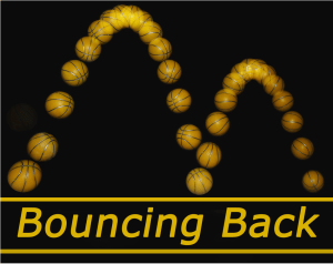 Bouncing back logo