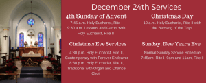 Christmas 24th Services
