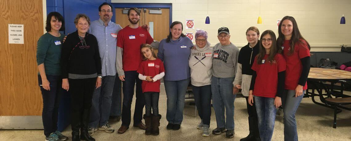 St. James' Helps Pack Thanksgiving Baskets for Lord's Pantry