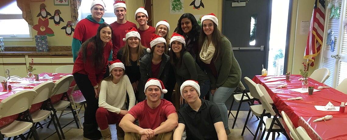 "D-Town West & STEM Students Volunteering at St. James Preschool's 31st Annual ""Breakfast with Santa"""