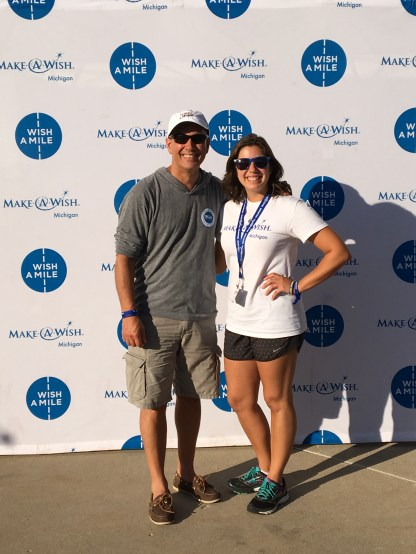 Rob and his daughter, Julie, who volunteers with the WAM.