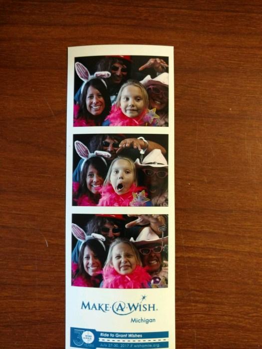 Jodi Graham has fun with a Wish Child at Saturday night's WAMMY event.