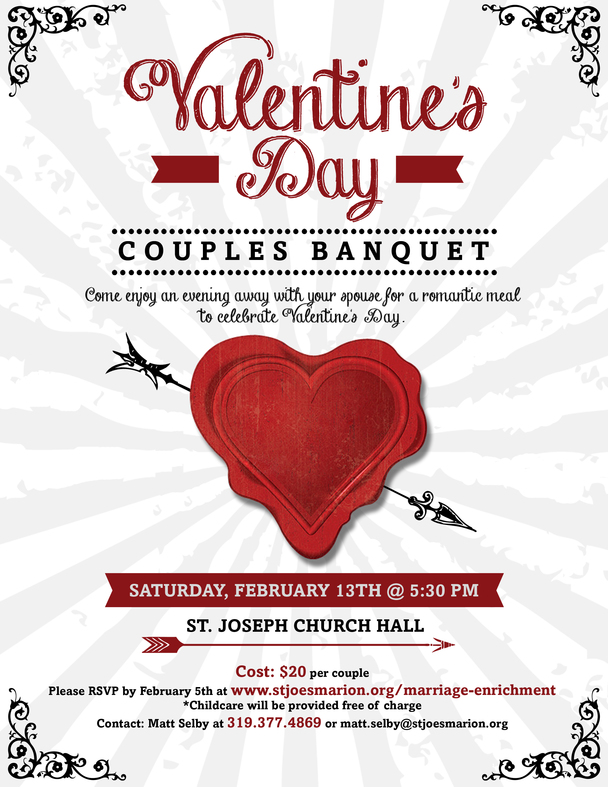 Valentines Day Couples Banquet St Joseph Catholic