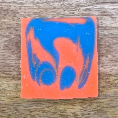 image of handmade soap, orange and blue