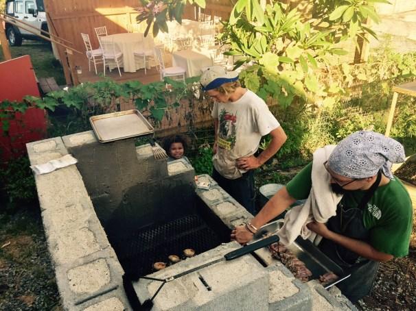 Gardener Mathew Gibney and Chef Ben Lewis