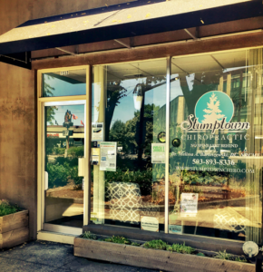 Updated office exterior at Stumptown Chiropractic.