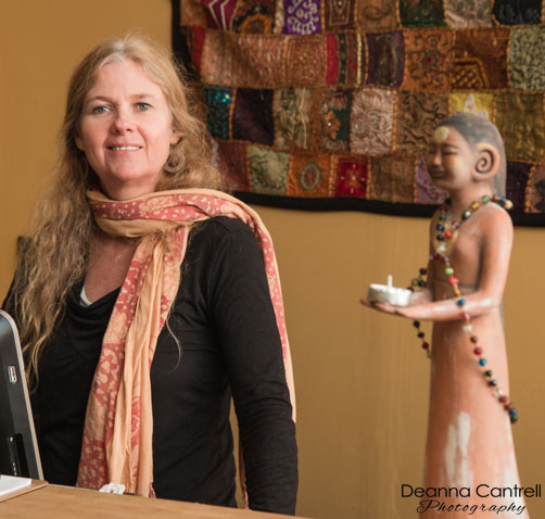 Bhakti Foster-Purvine at Shanti Om Yoga in St. Johns