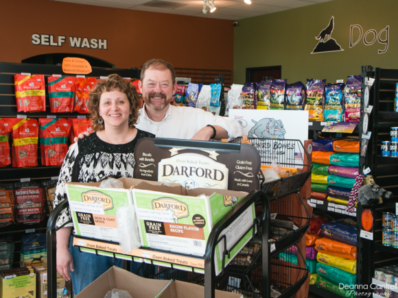 Celest and Matt Richards in the Nature's Pet Market store in St. Johns