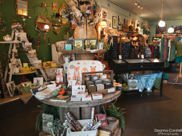 Salty Teacup interior showing gifts and animal prints
