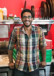 Abdu Alhoti in his Pizza Nostra kitchen.