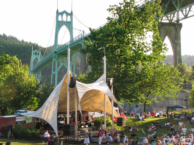 Cathedral Park Jazz Festival tent
