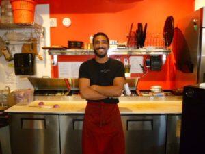 Abdul Alhoti in the Pizza Nostra kitchen