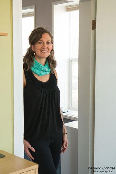 Allison Kirley in her office