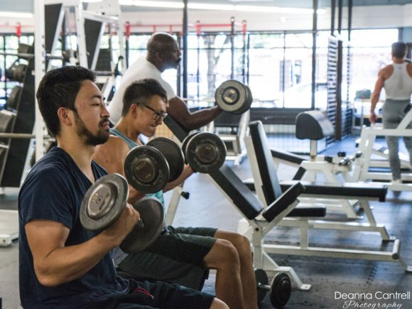 West Coast Fitness, athletes lifting weights