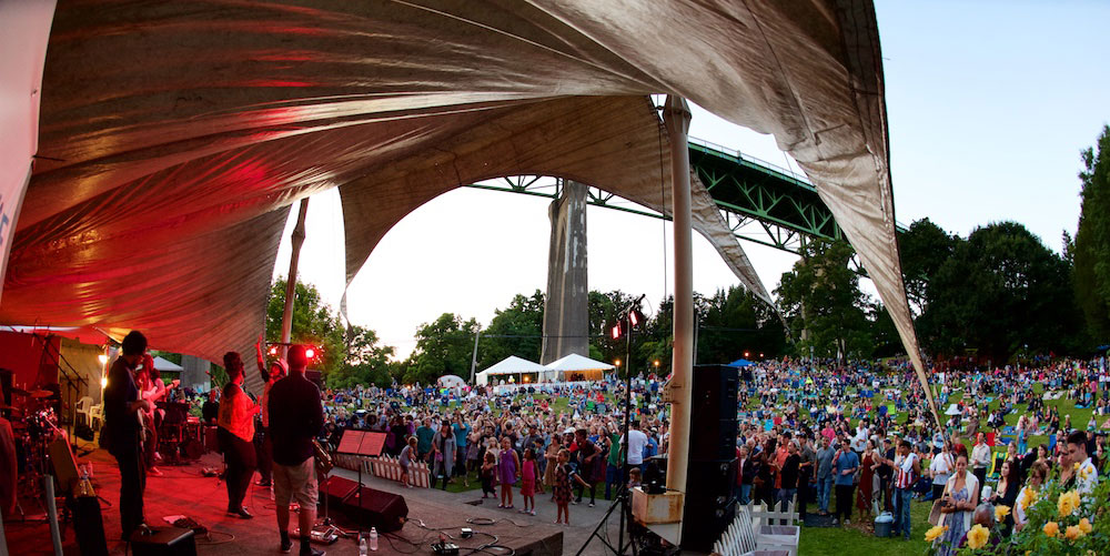 Cathedral Park Jazz Festival photo by Joe Alcala