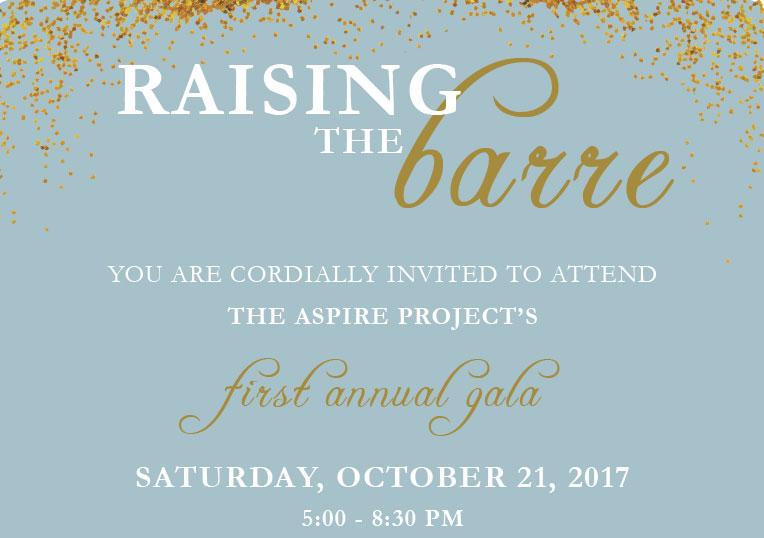 The Aspire Project Gala invitation