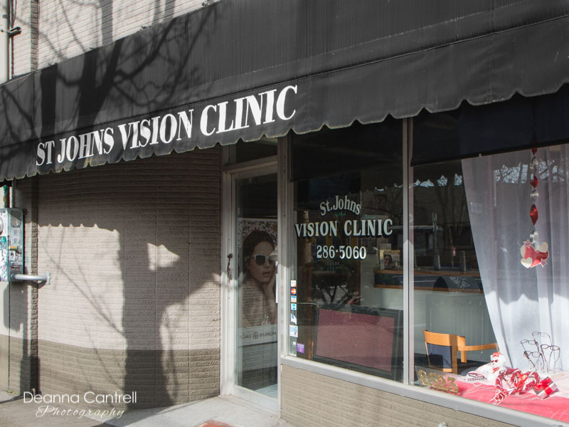 Entrance to the St. Johns Vision Clinic