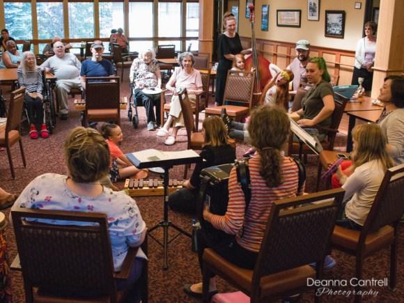 Homemade Jam session at elder care facility