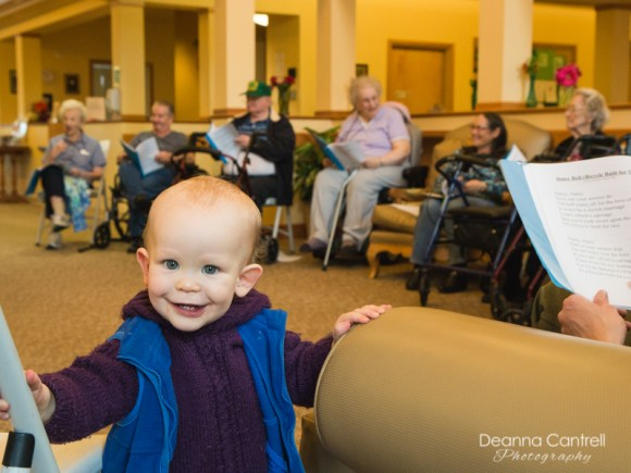 Lift Your Voice performance at an elder care facility