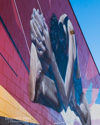 Mural on wall at Bikram Yoga St. Johns