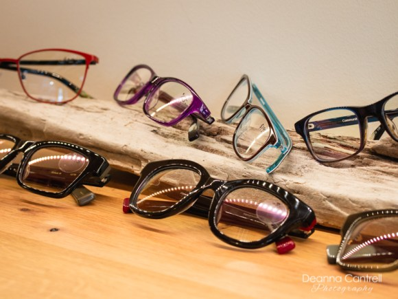 Glasses on display at Cathedral Eye Care
