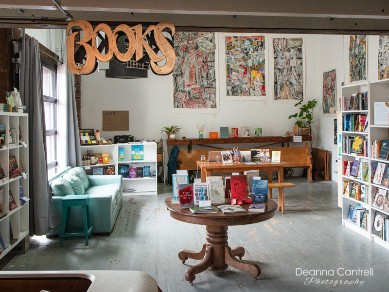 Interior of Two Rivers Bookstore