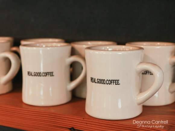 Coffee cups at St. Johns Coffee Roasters
