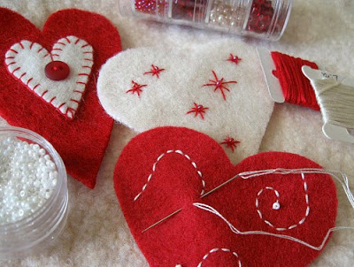 heart ornaments step 2