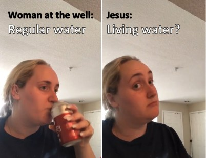 Woman at the well meme