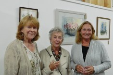Three members of Mawddach Art Group
