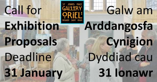 Call for Exhibition Proposals Deadline 31 January St John's Hall Gallery