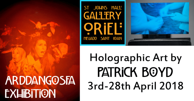 Patrick Boyd Exhibition 3rd-28th April 2018 St John's Hall Gallery Barmouth