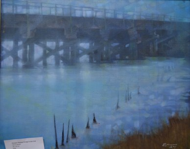 Pen Sarn Bridge Oil Painting copyright Bernard Barnes