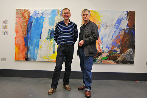 The artists Pete Clarke and Georg Gartz at a previous exhibition