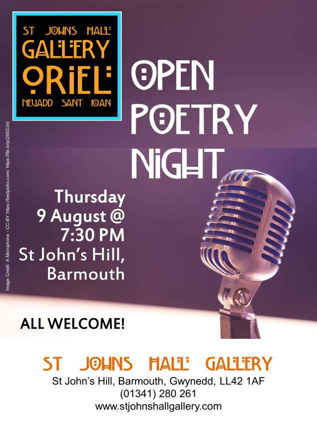 Open Poetry Night Poster 9 August