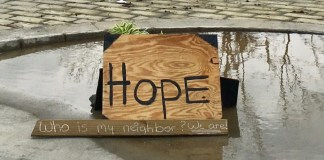 A sign of hope on St. John. (Amy Roberts photo)
