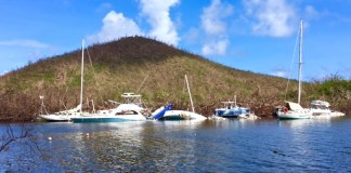 More wrecked boats, these at Coral Bay.