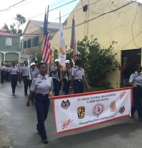 St. Croix Central High School's Junior ROTC took part in Saturday's parade.