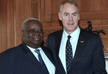 Gov. Kenneth Mapp with U.S. Interior Secretary Ryan Zinke (U.S. Department of Interior photo)