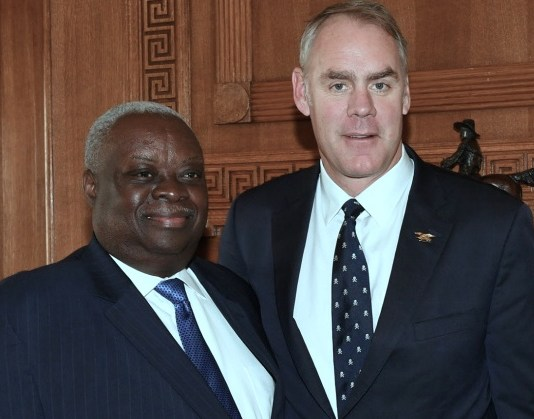 Gov. Kenneth Mapp with U.S. Interior Secretary Ryan Zinke (U.S. Department of Interior photo)