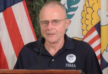 Federal Coordinating Officer of FEMA Region II Bill Vogel says 43 percent of the territory has had power restored. (Jamie Leonard photo)