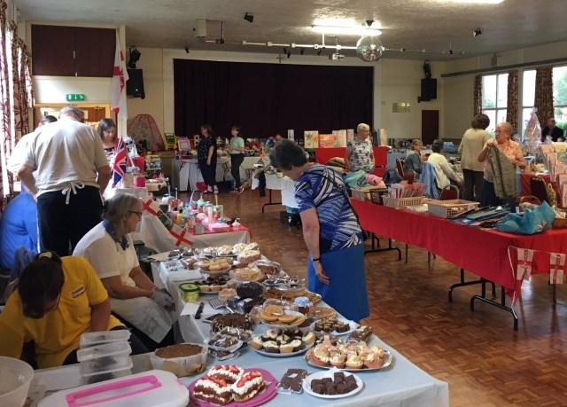 summer fair, book fair and coffee morning stalls