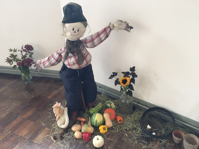 Our scarecrow makes a welcome return