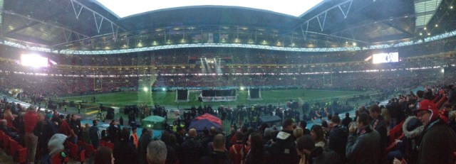 The crowd at Wembley for the 49ers @ Jags