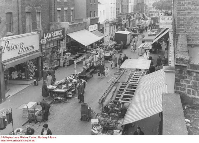 Exmouth Market in 1968. © Islington Local History Centre