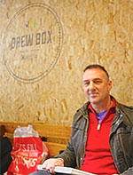 Paul Ryan, Café Art co-founder, at Brew Box Bubble Tea